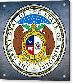 Missouri State Seal Acrylic Print by Movie Poster Prints