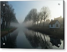 Mist Across The Canal Acrylic Print