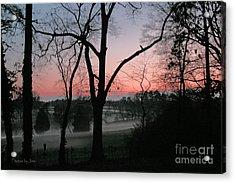 Mist At Sunset Acrylic Print by Jinx Farmer
