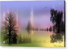 Mist Coloring Day 2 Acrylic Print by Mark Ashkenazi