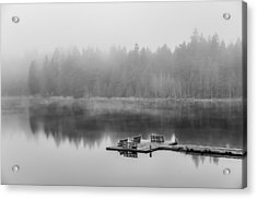 Mist On Lake Acrylic Print by Chris McKenna