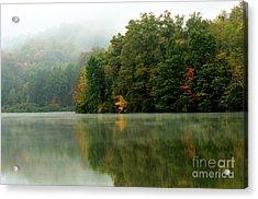 Mist On The  Lake Acrylic Print by Thomas R Fletcher