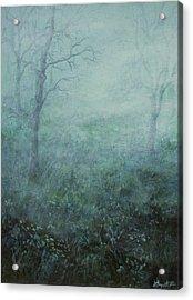 Mist On The Meadow Acrylic Print