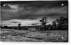 Mist On The Plains Acrylic Print by Mark Lucey