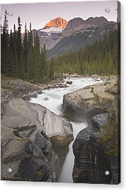 Mistaya Canyon And Mount Sarbach Acrylic Print