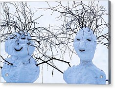 Mister And Missis Snowball - Featured 3 Acrylic Print