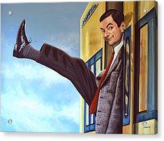Mister Bean Acrylic Print by Paul Meijering