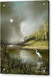 Acrylic Print featuring the painting Mistress Of The Glade by Sgn