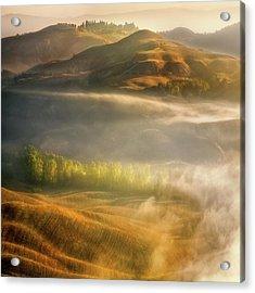 Mists... Acrylic Print by Krzysztof Browko