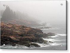 Misty Acadia National Park Seacoast Acrylic Print by Juergen Roth