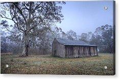 Misty Barn Acrylic Print by Steve Caldwell