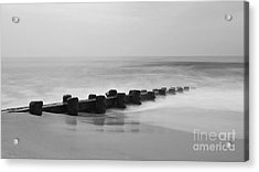 Misty Beach Morning Acrylic Print by Mark Miller