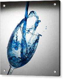 Misty Blue Acrylic Print by John Hoey