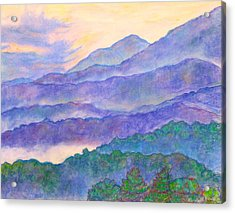 Misty Blue Ridge Acrylic Print by Kendall Kessler