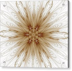 Misty Brown Mandala Acrylic Print