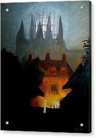 Misty Castle Acrylic Print