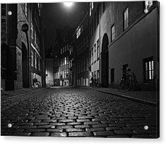 Misty Copenhagen Night Acrylic Print