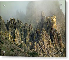 Misty Crags Acrylic Print
