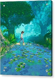 Misty Crossing Acrylic Print