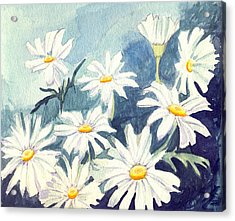 Misty Daisies Acrylic Print by Katherine Miller
