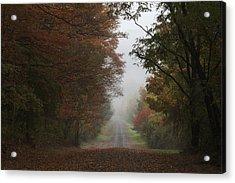 Misty Fall Morning Acrylic Print