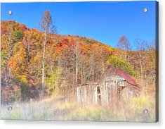 Misty Fall Morning In The Valley - North Georgia Acrylic Print by Mark E Tisdale