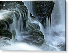 Misty Falls - 70 Acrylic Print by Paul W Faust -  Impressions of Light