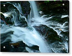 Misty Falls - 72 Acrylic Print by Paul W Faust -  Impressions of Light
