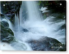 Misty Falls - 73 Acrylic Print by Paul W Faust -  Impressions of Light