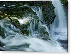 Misty Falls - 74 Acrylic Print by Paul W Faust -  Impressions of Light