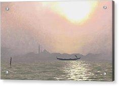 Misty Lagoona 34 X 47 Acrylic Print