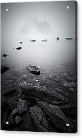 Misty Lake Acrylic Print by Lydia Jacobs