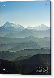 Acrylic Print featuring the photograph Misty Layers by Jacqi Elmslie