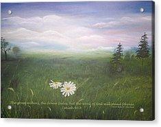 Misty Meadow Isaiah  Acrylic Print