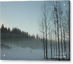 Misty Meadow Acrylic Print
