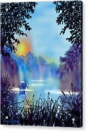 Misty Mooring Acrylic Print