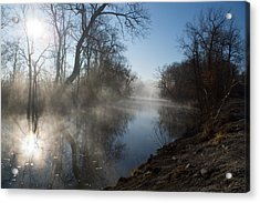 Misty Morning Along James River Acrylic Print