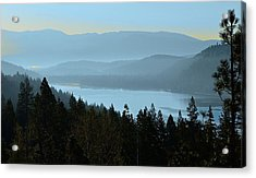 Misty Morning At Donner Lake Acrylic Print