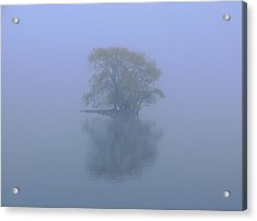 Misty Morning At Jamaica Pond Acrylic Print by Juergen Roth