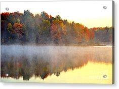 Misty Morning At Stoneledge Lake Acrylic Print by Terri Gostola