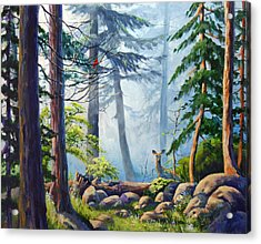 Misty Morning Acrylic Print by CB Hume