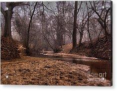 Misty Morning Creek Acrylic Print