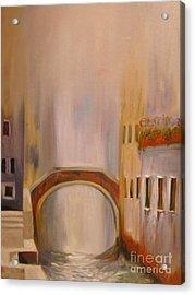 Misty Morning In Venice Acrylic Print by Nancy Bradley