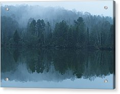 Misty Morning On The Clinch River Acrylic Print by Rita Mueller