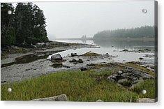 Misty Morning On The Rocky Coast Of Maine Acrylic Print