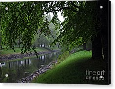 Misty Morning Acrylic Print