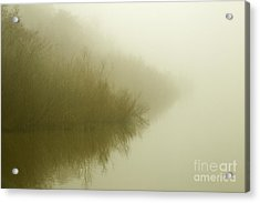 Misty Morning Reflection. Acrylic Print