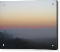 Misty Morning Road Acrylic Print by Wendy J St Christopher