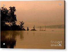 Misty Morning Solitude  Acrylic Print