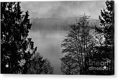 Misty Morning Sunrise Black And White Art Prints Acrylic Print